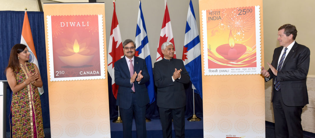 Canada Post and India Post mark Diwali, Festival of Lights