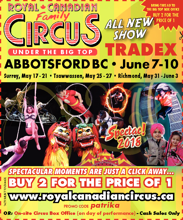 The Circus is coming to Abbotsford